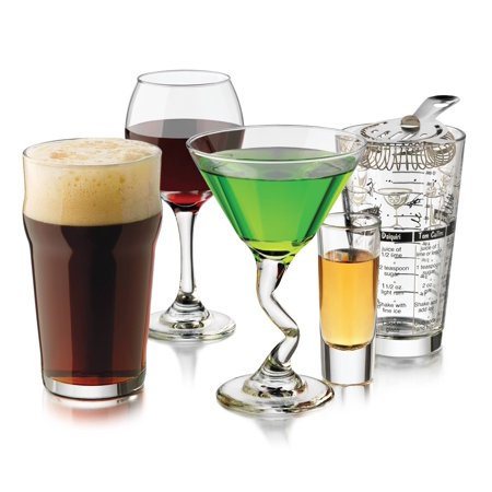 Libbey 18-Piece Barware and Glassware Starter Set](Bar Ware)