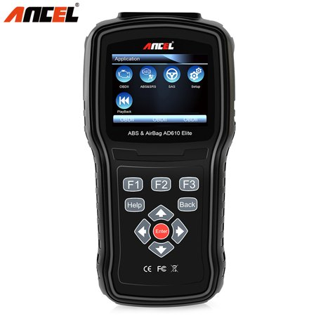 Ancel AD610 Elite OBD2 Scanner ABS SRS Airbag Reset Crash Data SAS Check Engine Light Code Reader OBD 2 Car Automotive Diagnostic Scan Tool,