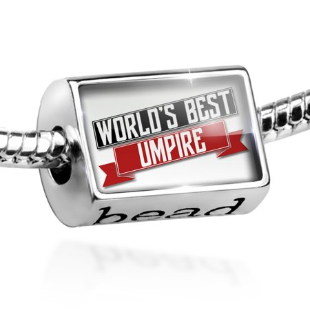 Bead Worlds Best Umpire Charm Fits All European