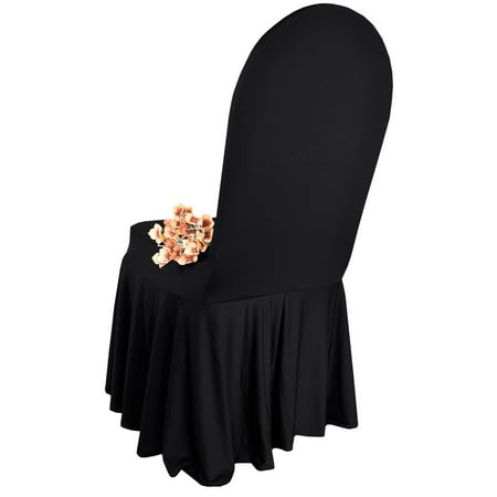 b04943b5698 Wedding Linens Inc. Spandex Banquet Fitted Chair Covers, Lycra Stretch  Elastic Wedding Party Decoration Chair Cover - Black