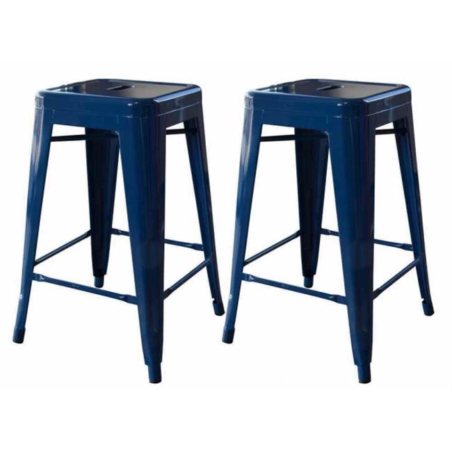 Amerihome Bs24blue Loft Blue 24 Inch Metal Bar Stool 2