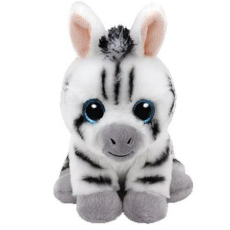 Stripes Zebra Beanie Babies Medium 13 inch - Stuffed Animal by Ty (96309) (Stuffed Zebra)