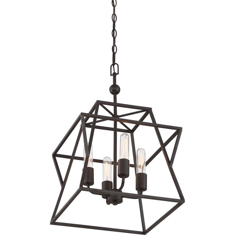 Quoizel Berwick 4 Light Cage Chandelier in Western Bronze - image 4 of 5