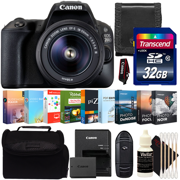 Canon EOS 200D Digital SLR Camera with 18-55mm Lens and Photo - Video Expert Software Collection Kit