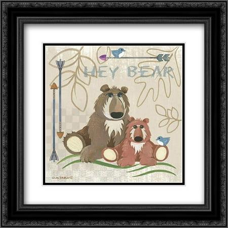 Lil Boys Bears 2x Matted 20x20 Black Ornate Framed Art Print by Phillips, Anita