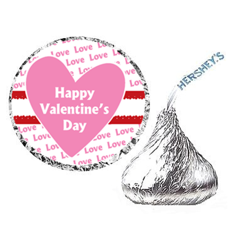 216ct Happy Valentines Day Party Hershey's Kisses Stickers / Labels](Valentines Party Ideas)