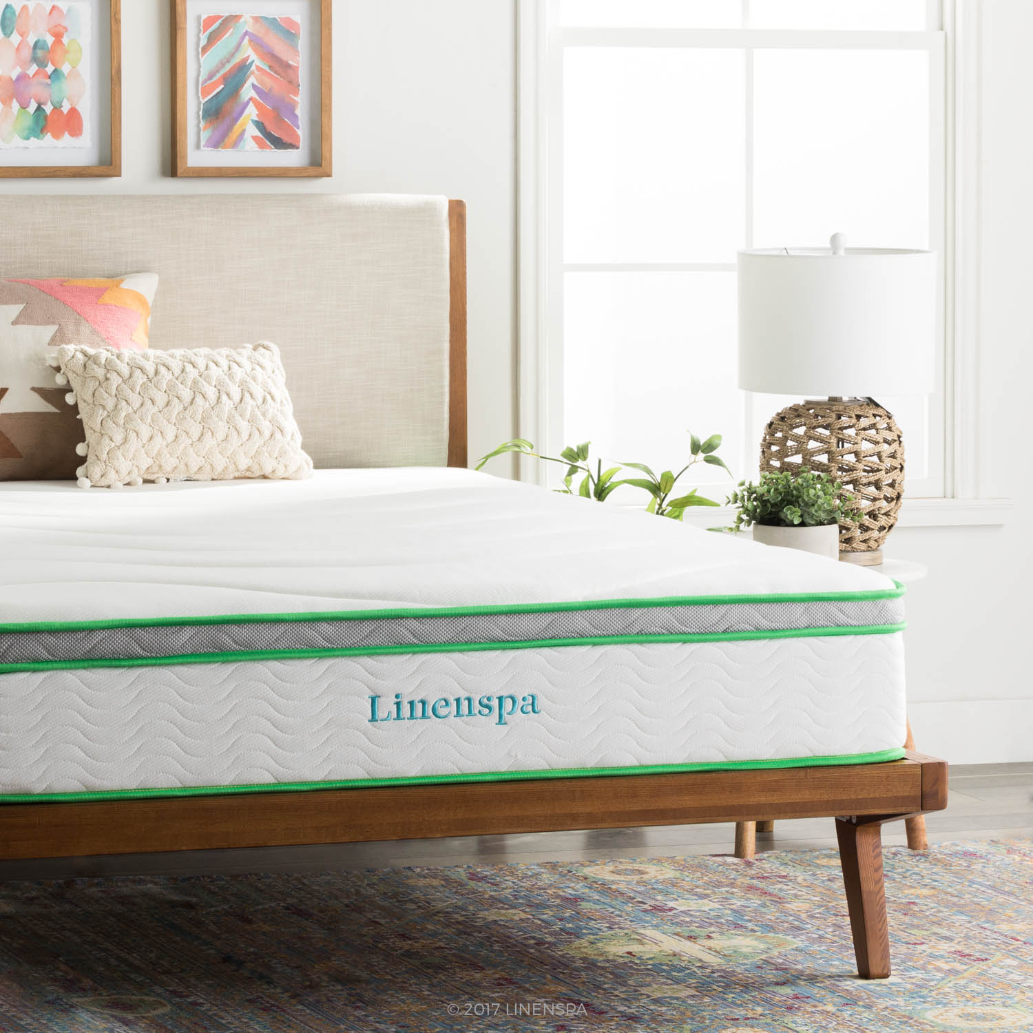Linenspa 10 Inch Supportive and Responsive Hybrid Mattress
