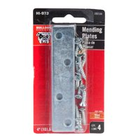 "Bulldog 4"" Mending Plates, 4ct"