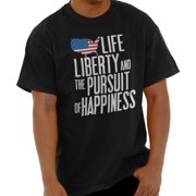 Brisco Brands Life Liberty And Pursuit Of USA Short Sleeve Adult T-Shirt