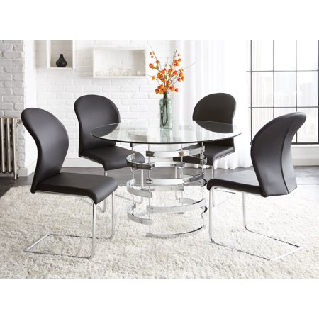Tarik Round Dining Table Chrome - Steve Silver