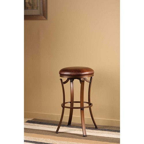 "Hillsdale Furniture 30"" Kelford Backless Swivel Bar Stool, Antique Bronze Finish"