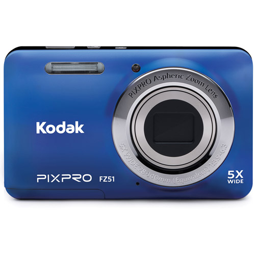 Kodak Blue FZ51-BL Digital Camera with 16.15 Megapixels and 5x Optical Zoom