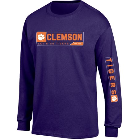 Men's Russell Purple Clemson Tigers Team Long Sleeve T-Shirt