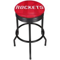 NBA Black Ribbed Bar Stool - Fade - Houston Rockets