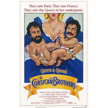 Cheech and Chong's the Corsican Brothers POSTER Movie Mini Promo (Cheech And Chong Halloween Girls)