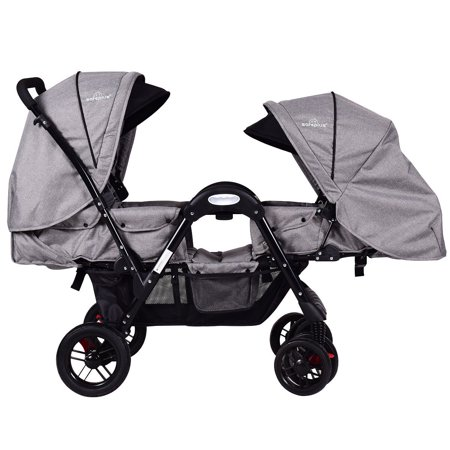 Costway Foldable Face To Face Twin Baby Stroller Double