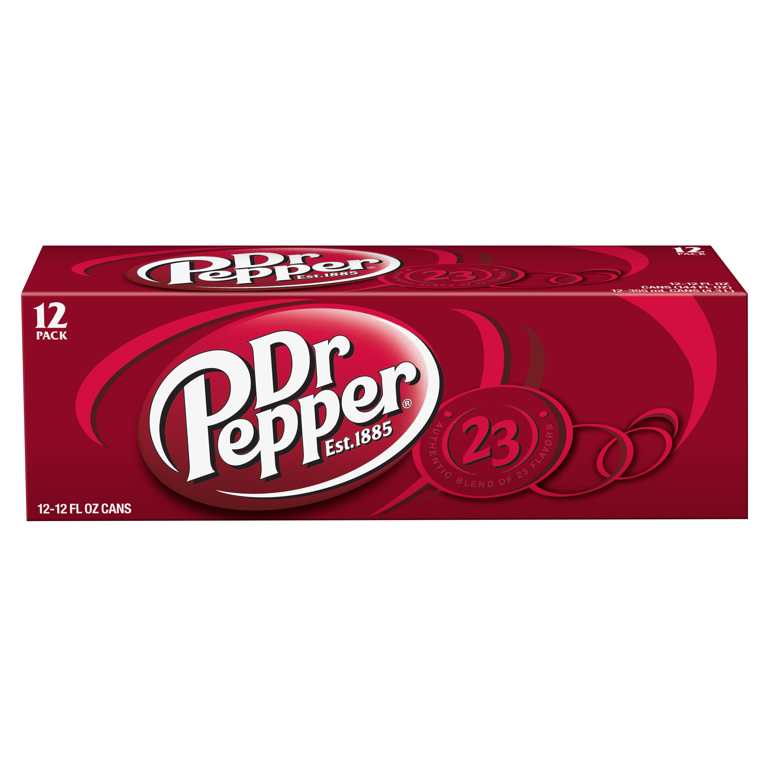 (2 Pack) Dr. Pepper, 12 Fl Oz Cans, 12 Ct