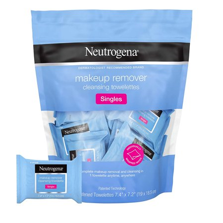Neutrogena Cleansing Facial Wipes, Individually Wrapped, 1 Bag of 20