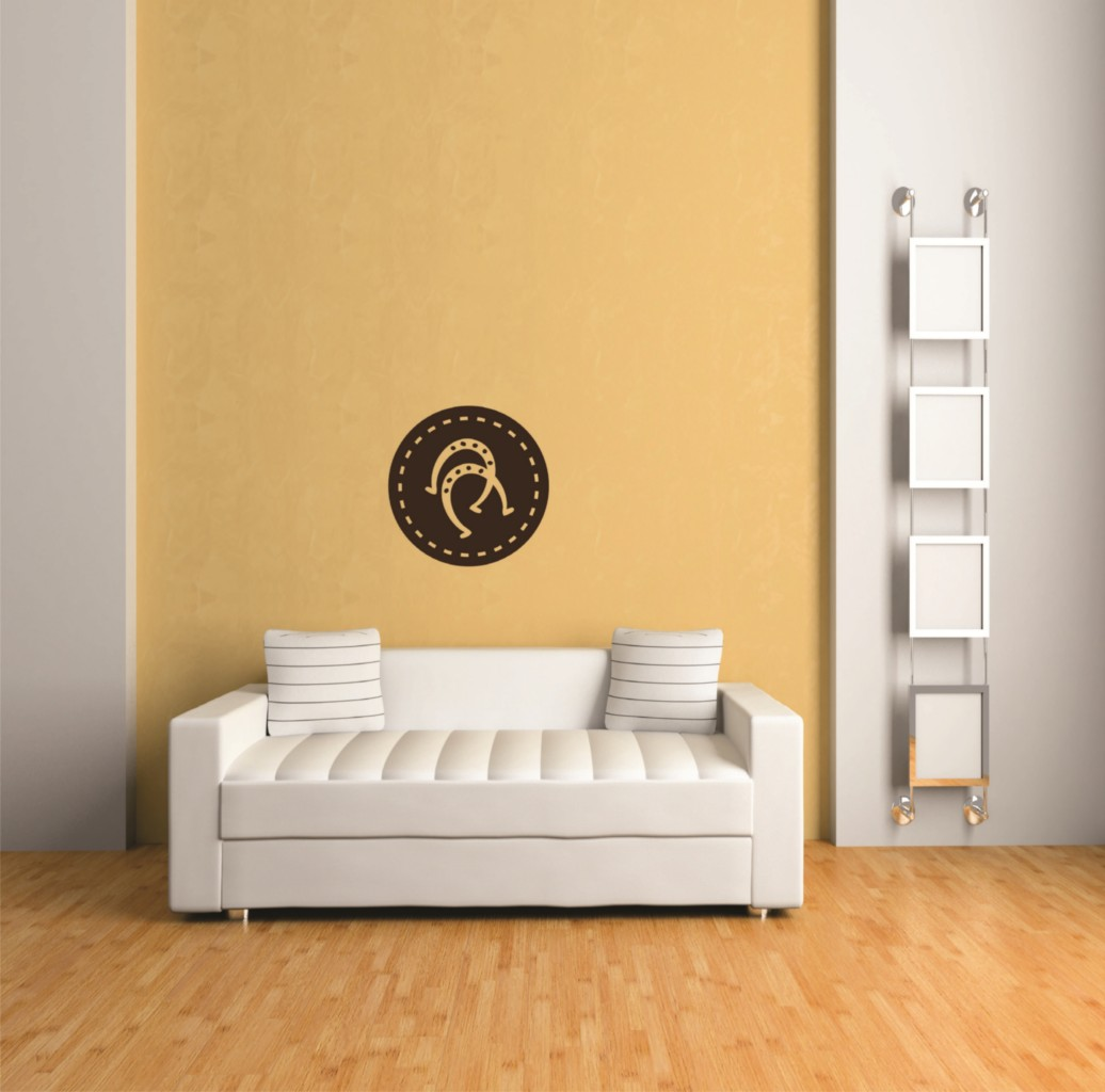 Custom Wall Decal Horseshoes - Home Living Room Sticker - Vinyl Wall : 16 X 16""