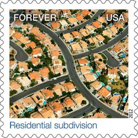 Residential Subdivision Poster Print By  Us Postal Service