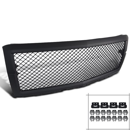 Spec-D Tuning 2014-2015 Chevy Silverado 1500 Black Abs Bentley Style Mesh Bumper Grille 2014 2015 Bentley Style Mesh Grille