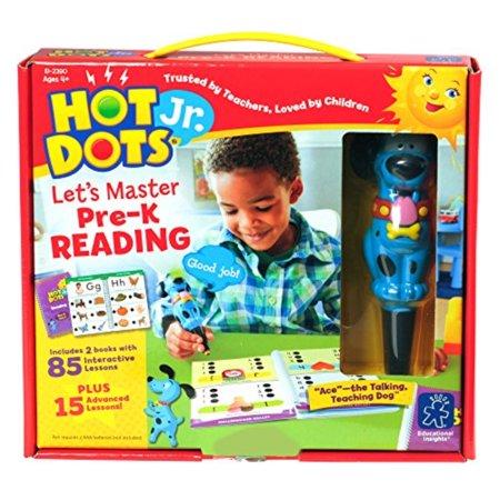 Educational Insights Hot Dots Jr. Let's Master Pre-K Reading Set with Ace Pen (Swiss Dot Pen)
