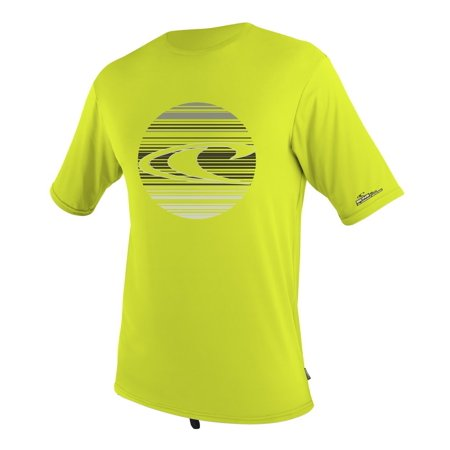 Short Sleeve Skin Suit - O'Neill Wetsuits UV Sun Protection Youth Skins Short Sleeve Surf Tee Sun Shirt, Lime, 16, 6oz Heathered Poly/Spandex By ONeill