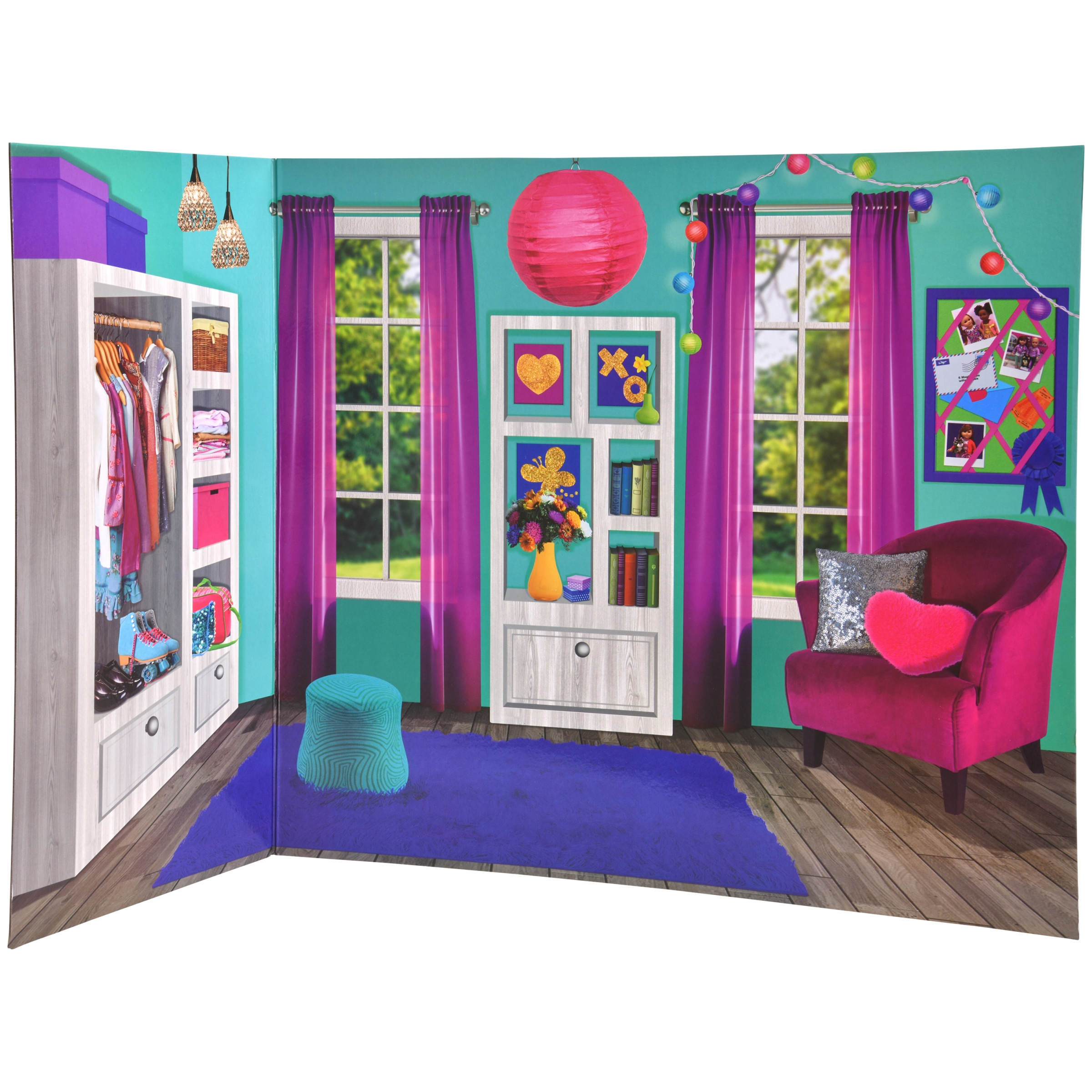 My Life As Reversible Background for Use with Dolls, Bedroom & Bathroom