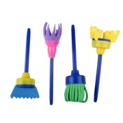 Diy Children Sponge Paint Brushes Drawing Tools Children Early Painting 4pcs