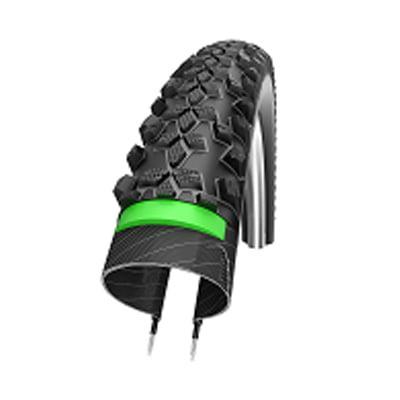Schwalbe Smart Sam HS 367 GreenGuard Snakeskin Performance Cross/Hybrid Bicycle Tire - Wire Bead (black - 26 x 2.10)