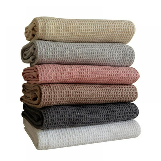 Clearance Classic Kitchen Towels 6 Pack 100 Natural Cotton Dish Towels Reusable Cleaning Cloths Super Absorbent Machine Washable Hand Towels 17 7x25 6inch Walmart Com Walmart Com