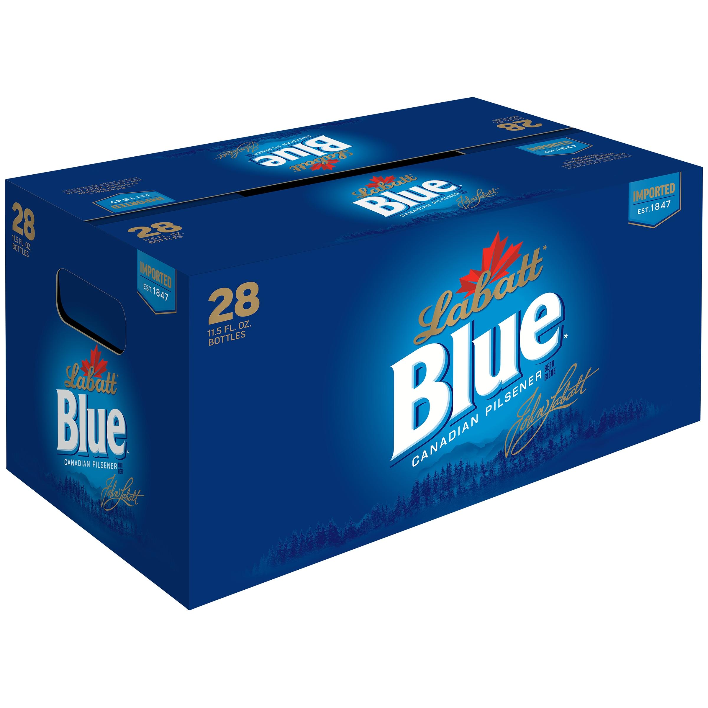 Labatt Blue Canadian Pilsener 28–11.5 fl. oz. Glass Bottles