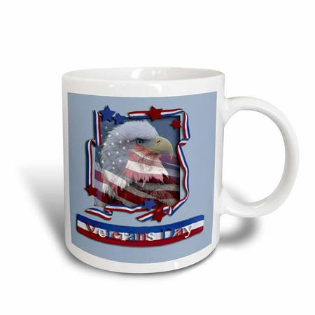 3dRose Veterans Day Patriotic Eagle, Ceramic Mug, 11-ounce - Diy Mugs
