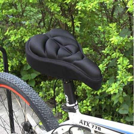 Cycling Bicycle Silicone Non-slip Saddle Seat Cover Cushion Soft Pad Thick Saddle Bicycle Seat Cushion Cover Shock Absorption - image 3 de 7