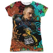 Suicide Squad Rick Flag Psychedelic Cartoon (FB Print) Juniors Sublimation Shirt