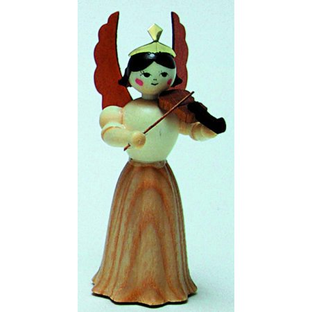 Violin Concert Angel German Erzgebirge Wood Christmas Figurine Made in Germany ()