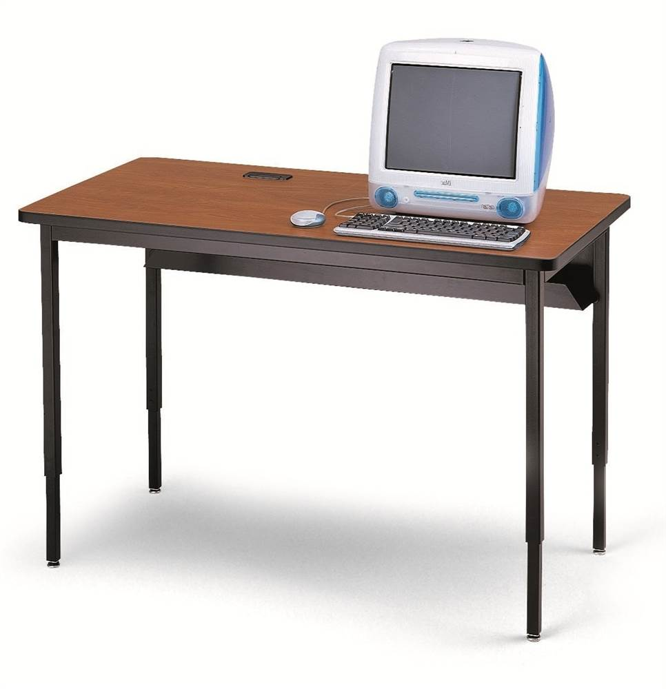 Quattro Computer Table - 60 in. W x 30 in. D (Cherry & Black)