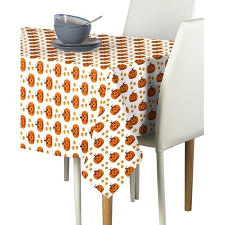The Holiday Aisle Huerta Halloween Corny Pumpkins Tablecloth - Corny Halloween Sayings