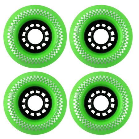 LOSENKA Authorized Beginner Workout PU 78A Skateboard Wheels Green 75mm Dia 4pcs 75 Mm 78a Green