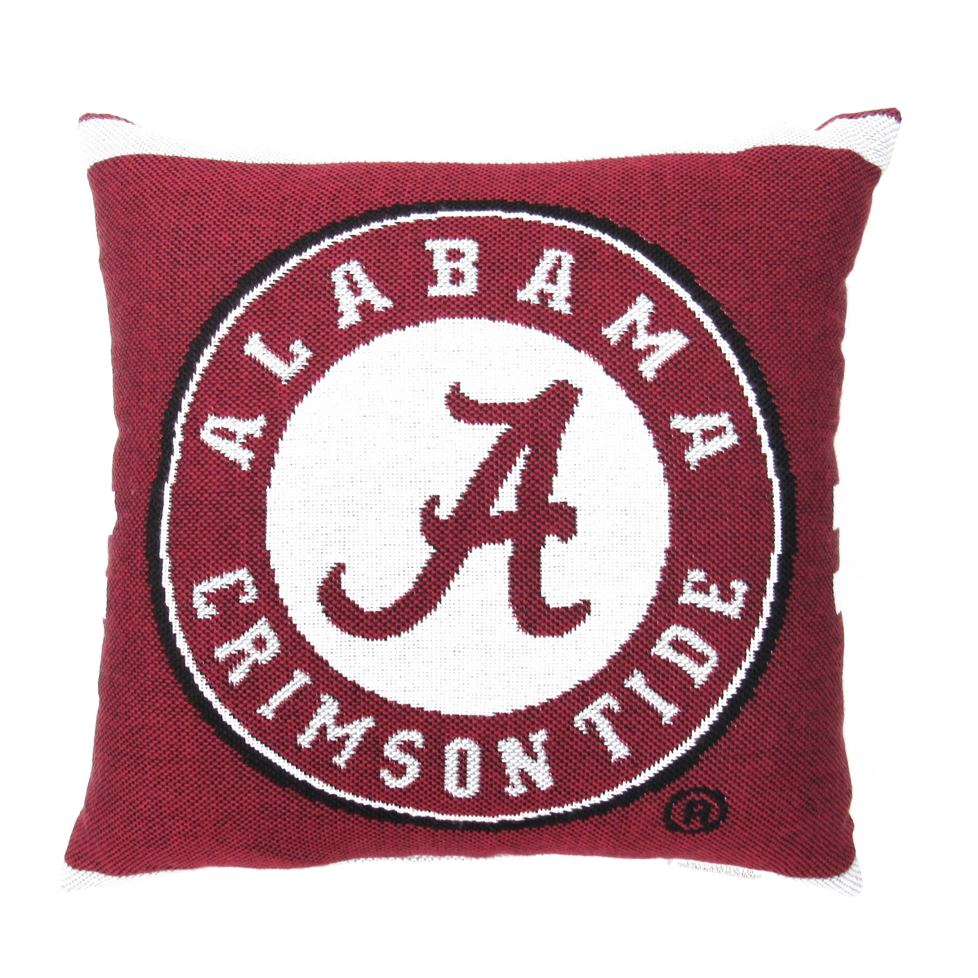 """NCAA University of Alabama 20"""" Square Decorative Woven Pillow by The Northwest Company"""