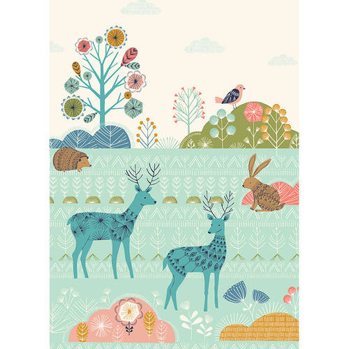 Oopsy Daisy - Patterned Forest Canvas Wall Art 10x14, Bethan Janine