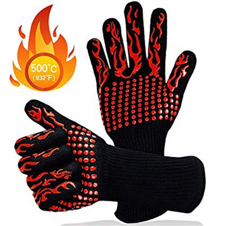 BBQ Gloves Extreme Heat Resistant, Tvird Oven Gloves BBQ Grilling Gloves - image 4 de 8