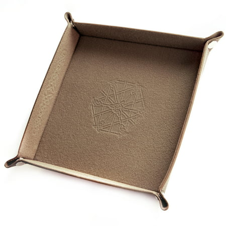 Wiz Dice Collapsible Leather & Felt Dice Tray for DnD & Other Tabletop Games