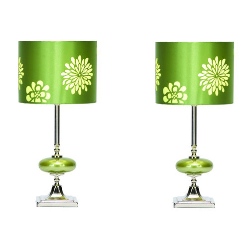 EC World Imports Casa Cortes Costa 19'' Table Lamps (Set of 2) (Set of 2)