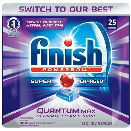 Finish  Powerball  Quantum Max  Shine   Protect Automatic Dishwasher Detergent Capsules 25 Ct Pouch