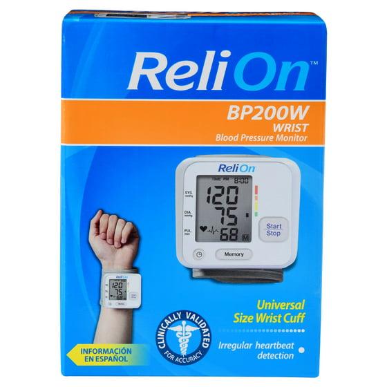 Relion Wrist Blood Pressure Monitor Bp200w Walmart