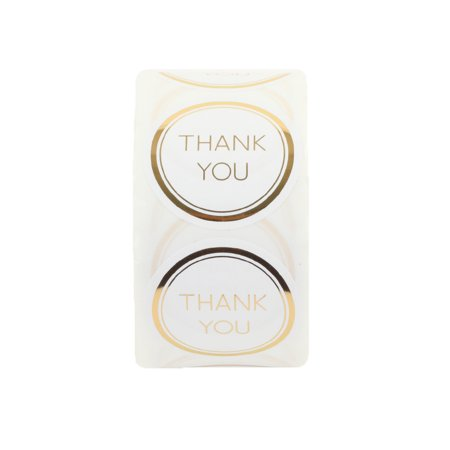 Koyal Wholesale Label Stickers Gold Foil Edge Thank You Favor Labels, 1.5-inch Round Circle, 500-Pack Party Favor Labels - Wholesale Tins