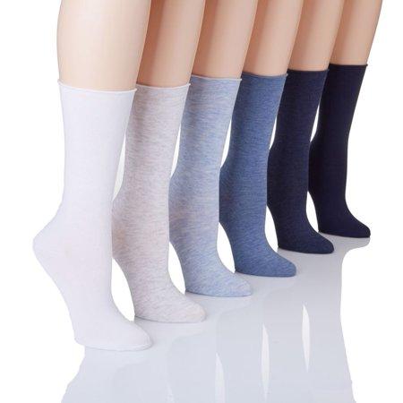 Women's Lauren Ralph Lauren 3101 Lauren Roll Top Trouser Sock - 6