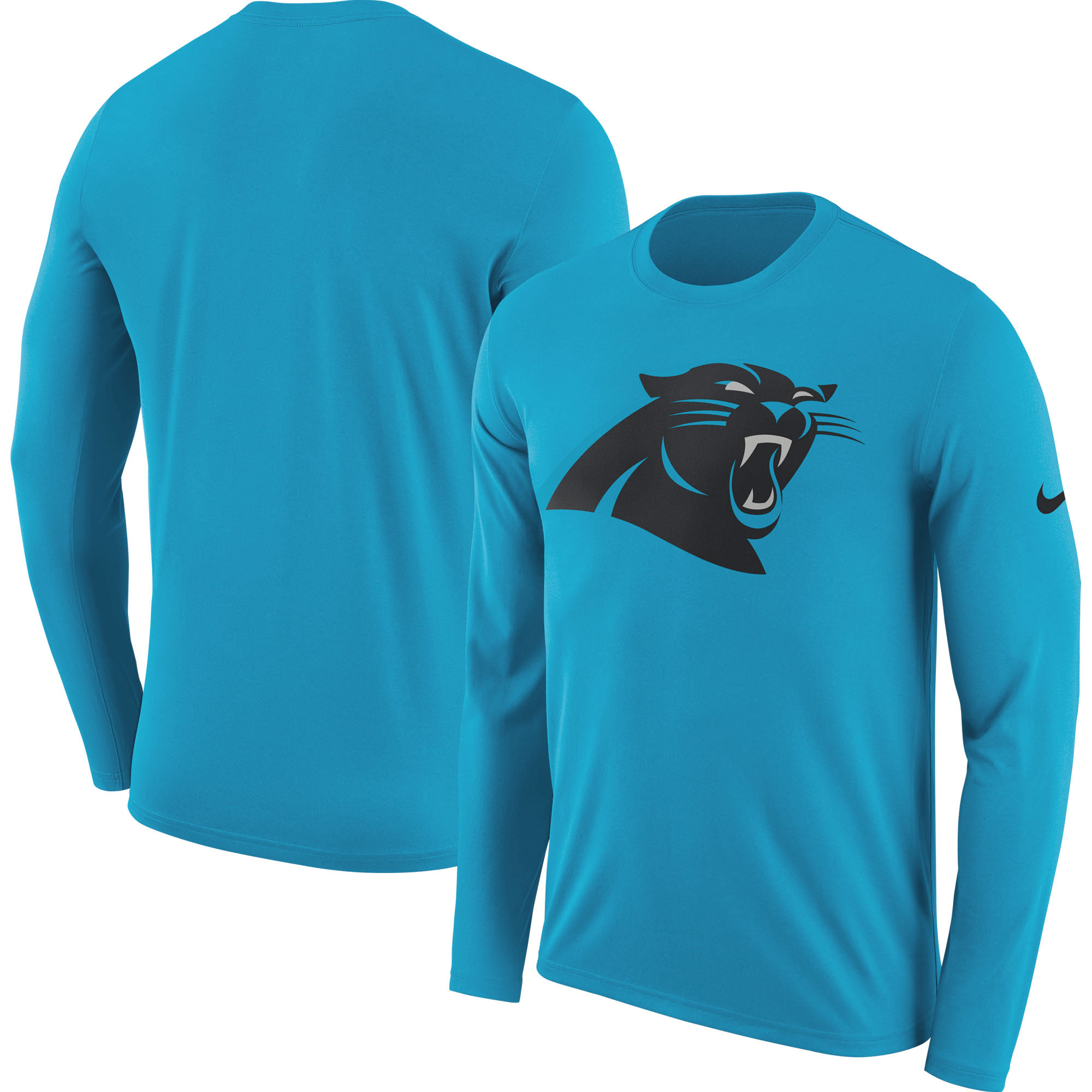 Carolina Panthers Nike Fan Gear Primary Logo Long Sleeve Performance T-Shirt - Blue - 2XL