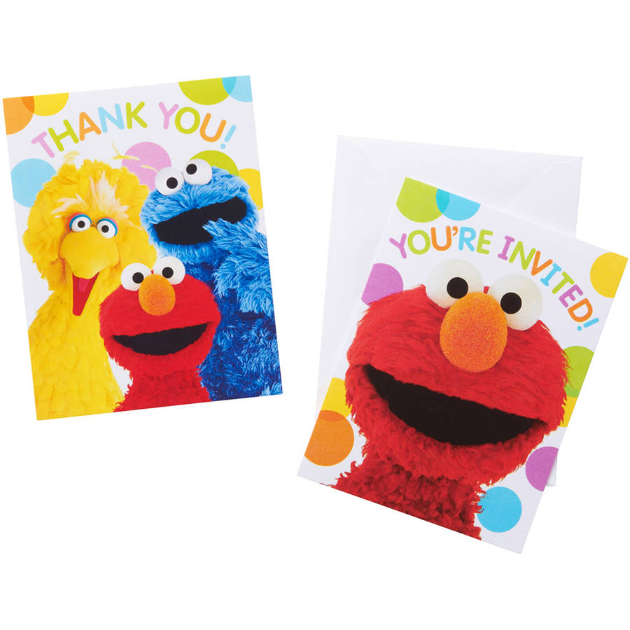 Elmo Party Invite and Thank-You Combo Pack, 8ct